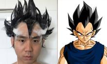 Cosplay nhân vật manga bằng... dầu gội đầu