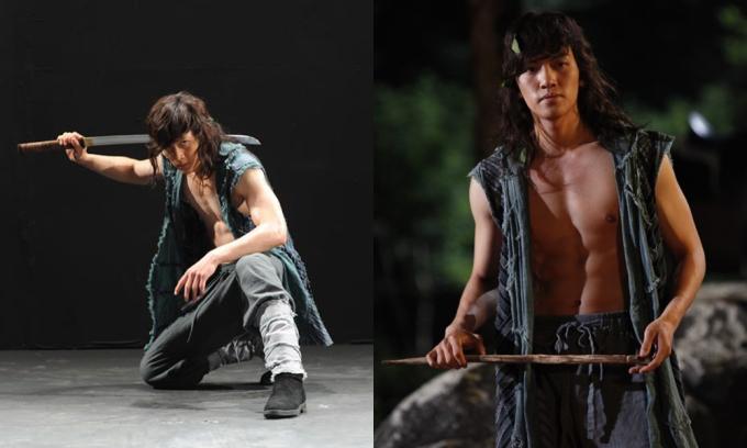 """<p class=""""Normal""""><span>Bộ phim cổ trang đầu tiên của Ji Chang Wook là <em>Warrior Baek Dong Soo </em>(2011). Anh đóng vai chính Baek Dong Soo, một chiến binh quả cảm. Nam diễn viên sinh năm 1987 rất chú trọng hình tượng trên phim, anh luyện tập để có cơ bắp đẹp nhất khi lên hình.</span></p>"""