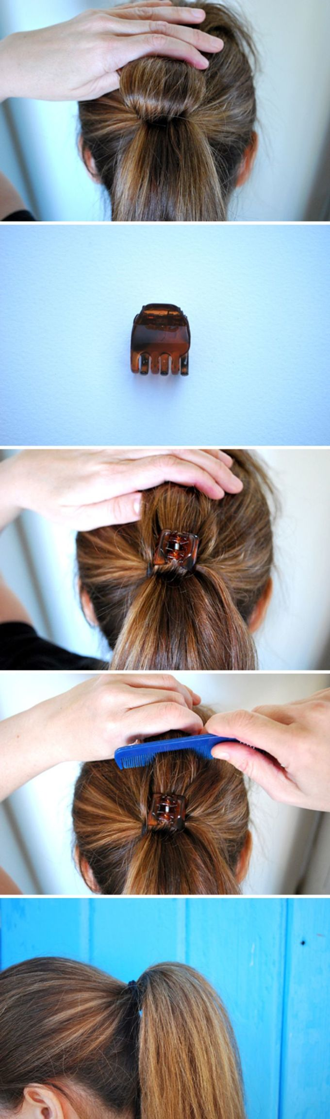 <p><strong>3: Làm phồng tóc buộc</strong></p>