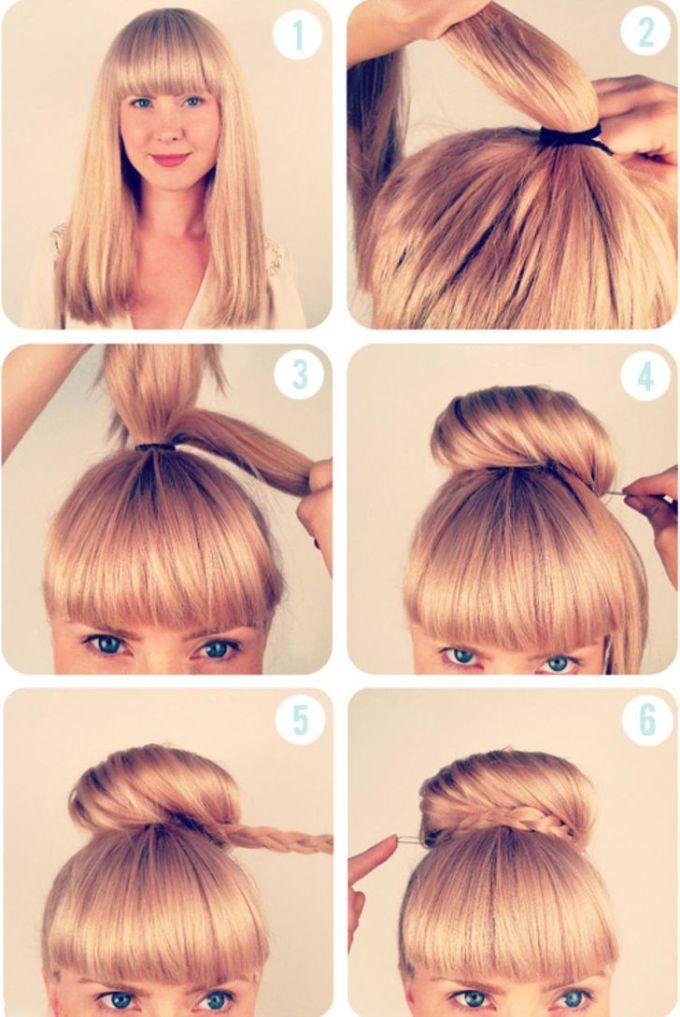 <p><strong>6: Búi tóc cao</strong></p>