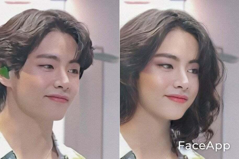 Chỉ cần thay đổi một chút kiểu tóc, V đã biến thành một quý cô thanh lịch, quyến rũ.