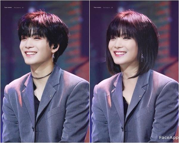Jong Hyun vô cùng xinh đẹp, cực hợp với kiểu tóc bob.