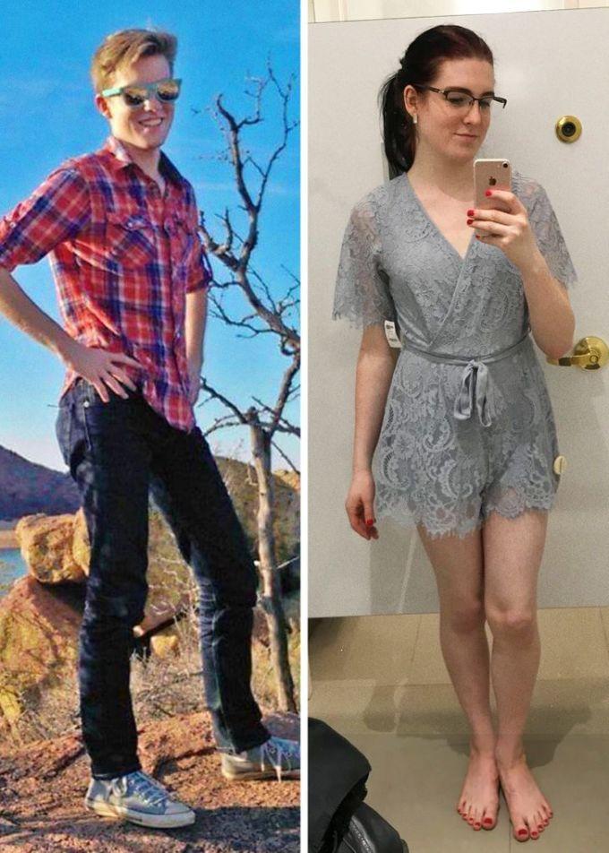<p>Là tôi sau 8 tháng. Tôi chưa từng nghĩ bản thân có ngày hôm nay, một cô gái hoàn hảo đứng trước gương chụp ảnh.</p>