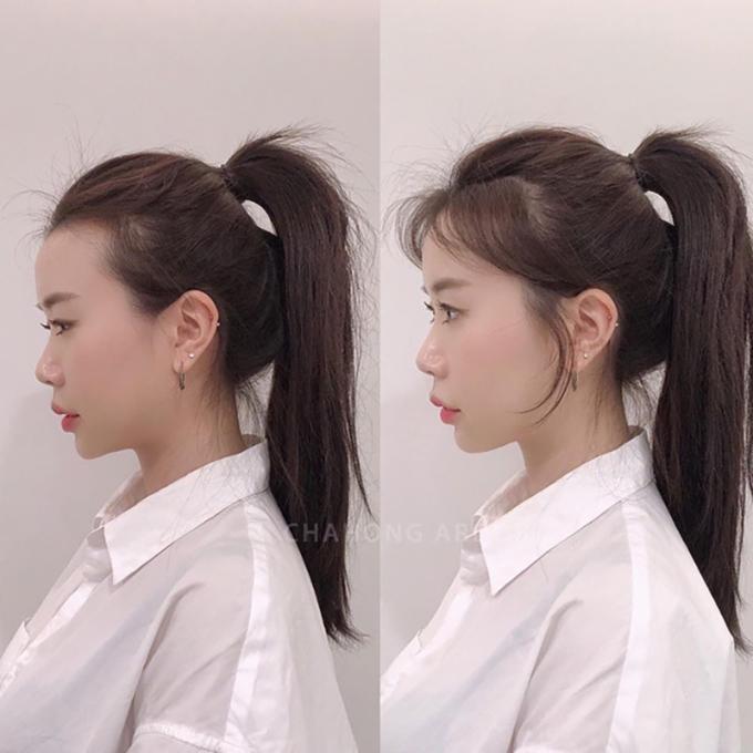 """<p>Đừng vén toàn bộ mái tóc của mình về phía sau, chúng sẽ khiến bạn lộ gương mặt to hoặc trán """"máy bay"""". Để thực hiện bạn chỉ cần buộc cao tóc, nhưng tuyệt đối không buộc quá chặt và cố gắng """"che những phần da đầu bị lộ bằng tóc con.</p>"""