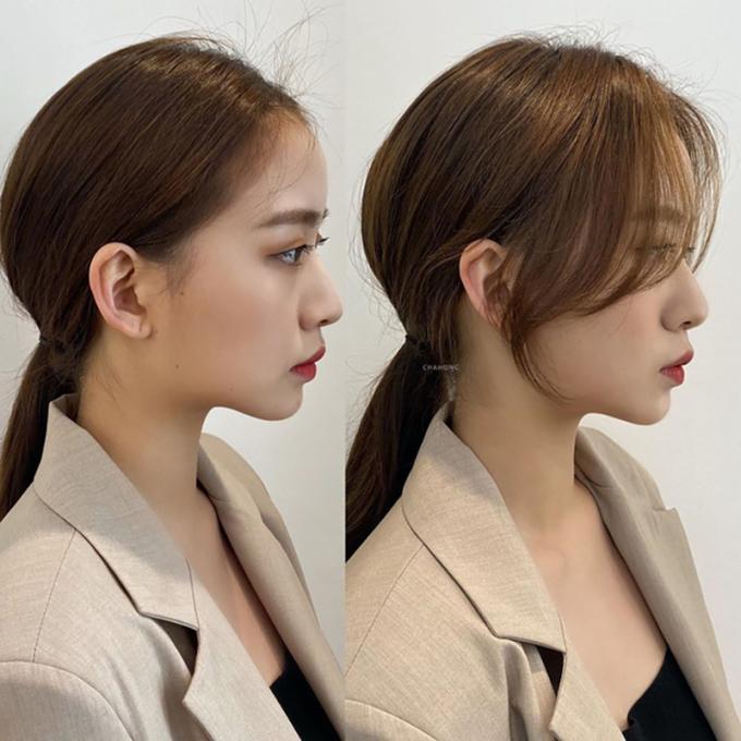 <p>Nếu muốn buộc tóc thấp, bạn có thể áp dụng công thức: Tạo độ phồng cho phần phía sau tóc, kết hợp với kiểu mái buông lơi nhẹ nhàng sẽ khiến khuôn mặt trở nên hài hoà hơn.</p>