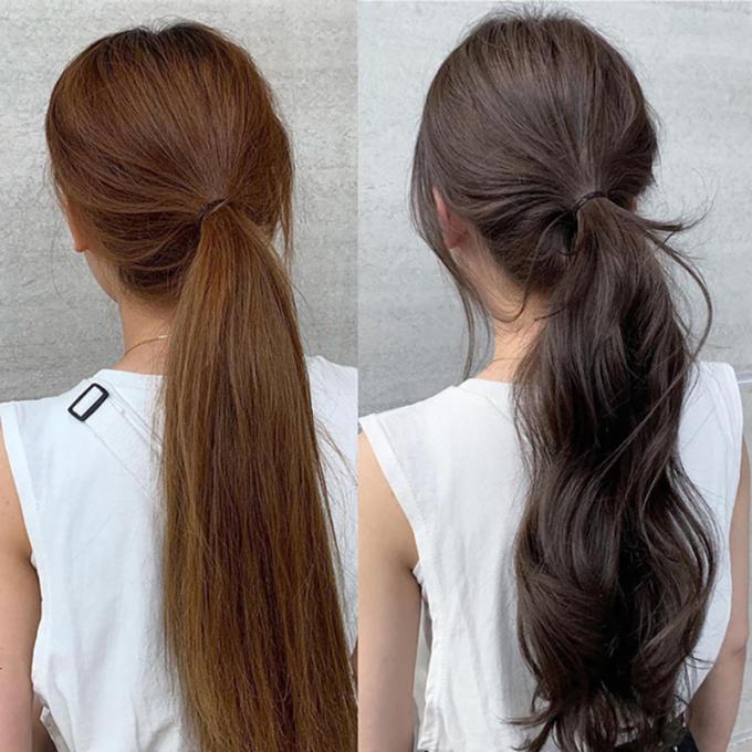 <p>Tạo độ bồng bềnh cho tóc bằng cách làm xoăn nhẹ phần đôi tóc.</p>