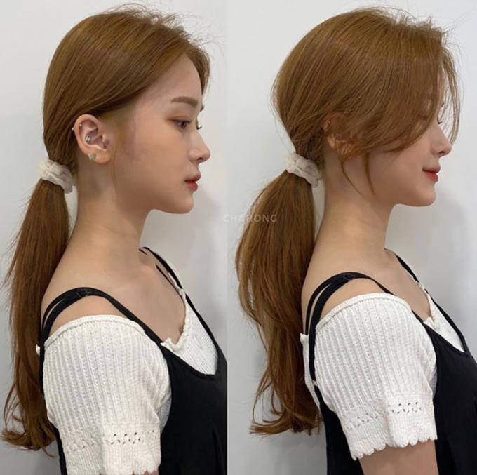 <p>Nới lỏng phần tóc phía trên, đánh rối trong phần tóc buộc để tạo độ dày cho tóc, kết hợp với kiểu mái uốn ôm mặt, bạn sẽ có thần thái ngút ngàn.</p>