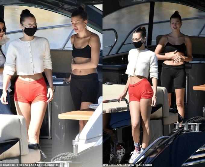 <p>Trước khi cởi đồ diệnbikini, hai người đẹp khoe chân dài với quần shorts ôm sát tôn vòng 3.</p>