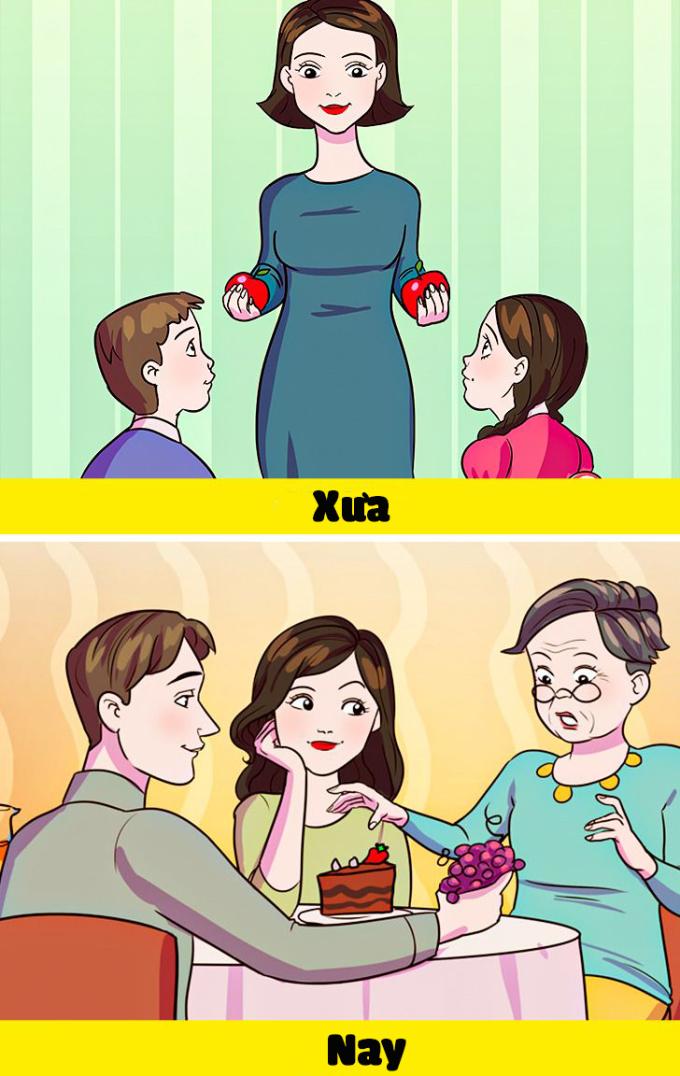 <p>Không còn phải đứng ra phân chia đồ cho hai anh em, giờ đây mọi món đồ ngon nhất luôn được ưu tiên để phần mẹ.</p>