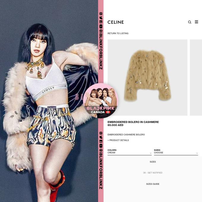 """<p>Lisa là thành viên có sức ảnh hưởng đến giới thời trang, những trang phục mà nữ ca sĩ mặc thường xuyên bán """"cháy hàng"""". Sau khi teaser được tung ra, áo lông của thương hiệu Celine có giá hàng nghìn USD đã sold out trên các trang bán hàng online.</p>"""