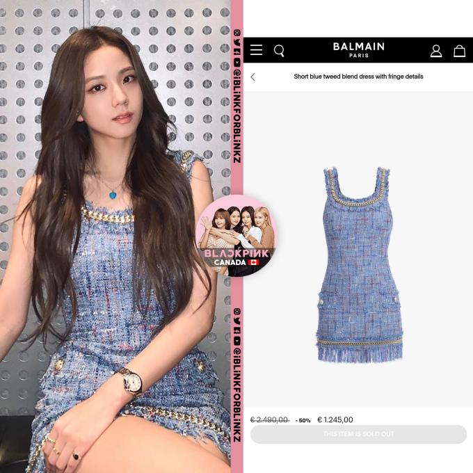 <p>Váy Balmain giá 1.245 USD bán cháy hàng nhờ sức ảnh hưởng của Ji Soo.</p>