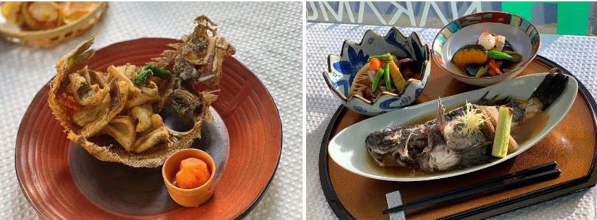 Những món ăn Nhật Bản đẹp mắt được phục vụ bởi nữ đầu bếp Hyo Min.