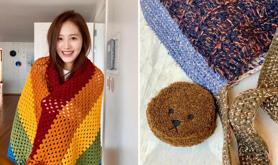 ... và khăn quàng đều là sản phẩm do Kim Jae Kyung tự tay làm.