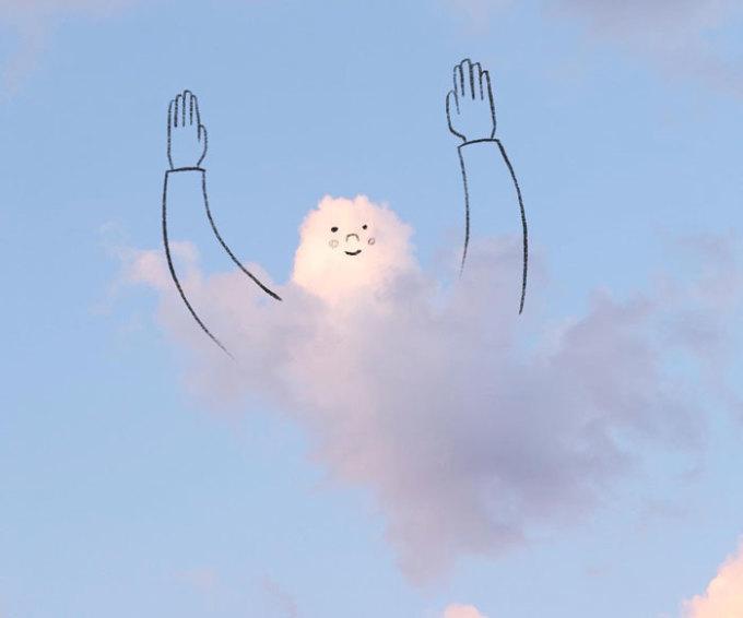"""<p class=""""Normal""""><span><span><span><span><span><span>Những bức hình của Chris gợi nhớ về tuổi thơ của chúng ta. Mỗi lần ngước lên bầu trời và ngắm những đám mây, chúng ta thường thấy chúng có hình khối giống với những con vật hoặc hình ảnh ta quen thuộc.</span></span></span></span></span></span></p>"""