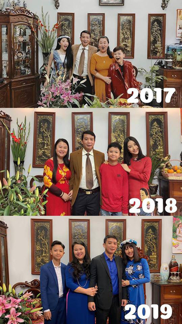 Quá trình trưởng thành của Tôm trong gia đình qua các năm.