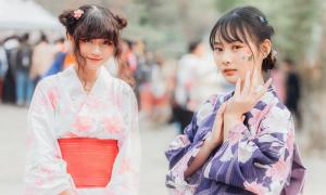 Ngẩn ngơ trước gái xinh diện Yukata đón Tết Nhật Bản ở Hà Nội