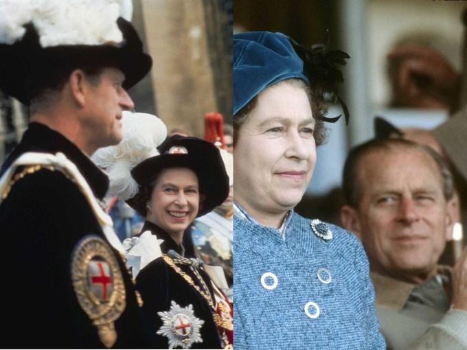 Khoảnh khắc vợ chồng Nữ hoàng nhìn nhao ngọt ngào.